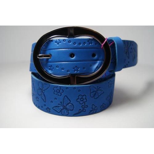 Ремень женский кожаный (голубой) Andi 1171_008