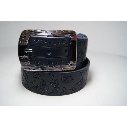 Ремень женский из цельной кожи (черный) Andi 1171_024
