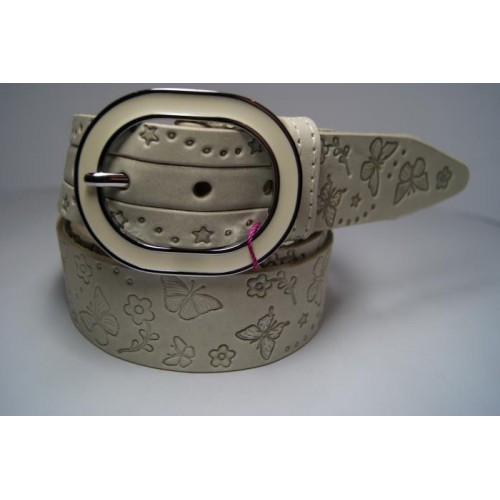 Ремень женский кожаный (белый) Andi 1171_034