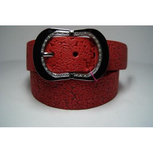Ремень женский кожаный (красный) Andi 1171_041
