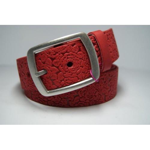 Ремень женский кожаный (красный) Andi 1171_043