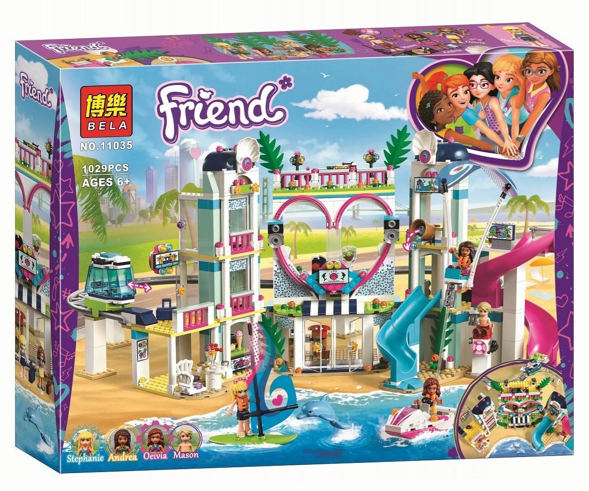 "Конструктор Bela 11035 ""Курорт Хартлейк Сити"" (аналог Lego Friends 41347), 1029 дет"