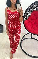 Женская пижама в горох (Мод.0855/1), фото 1