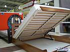 Ліжко двоспальне з натуральної деревини буку з підйомним механізмом Селена Естелла 160х200(190) , фото 2