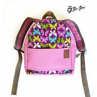 Детский рюкзак непромокаемый Бабочки розовый (1100512-1) 1b8b56ea4abe8