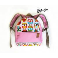 Детский рюкзак непромокаемый Совы розовый (1100513-1) 5391c26d4c330