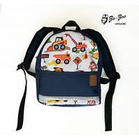 Детский рюкзак непромокаемый Экскаватор синий (1100101-1) abebdad655d9a