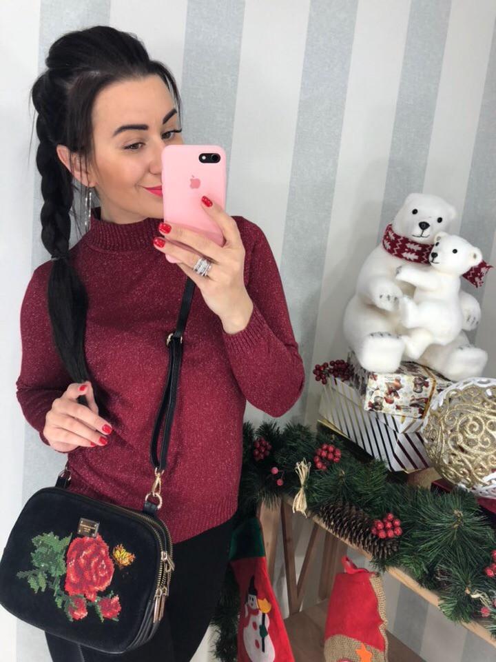 Женский нарядный сверкающий свитер  (Фабричный Китай )  Код 0299