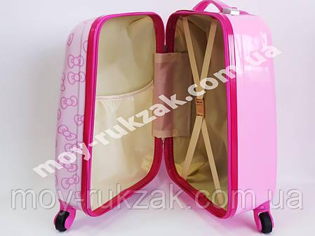 Детский чемодан дорожный Hello Kitty-3 на колесах, фото 2