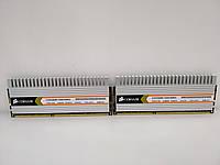 Оперативная память  Corsair 4Gb(KIT 2x2GB) DDR3 PC3-10660 CL-9 !!!!  б/у
