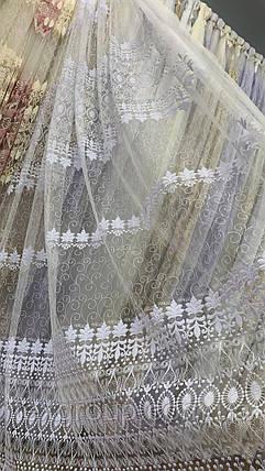 Фатиновая тюль с густой вышивкой IST 0А, фото 2