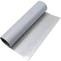 Термотрансферная пленка блестящая White Silver 30x91 см для плоттеров Silhouette, фото 1