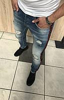 Мужские джинсы  2018 Прекрасное лекало и посадка оригинал Размеры:  29, 30, 31,32 ,33,34, 36