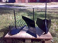 Набір начіпного обладнання до мотоблока (картоплекопалка, плуг, підгортач)