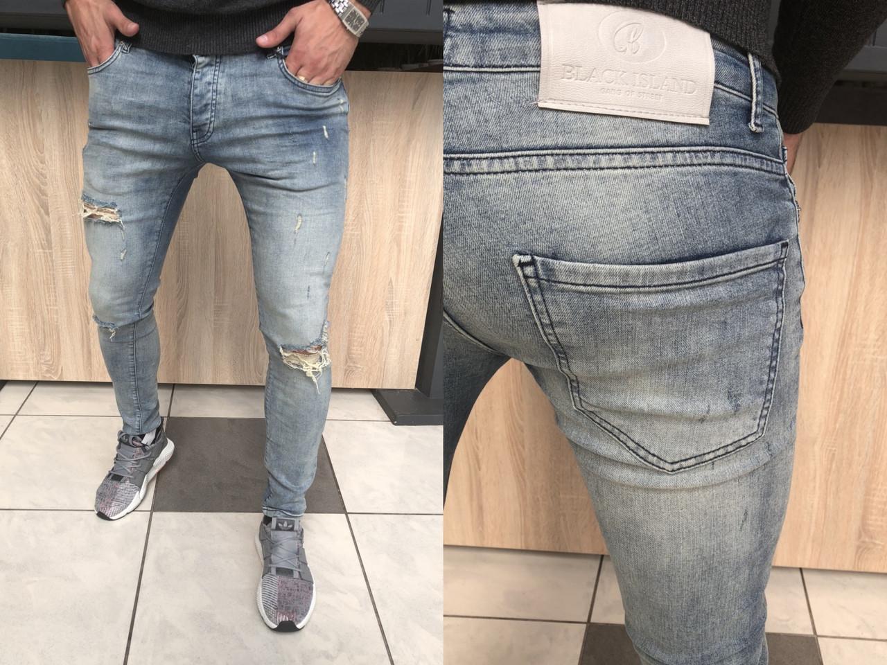 Мужские джинсы  2018 Прекрасное лекало и посадка оригинал Размеры:  29, 31, 33