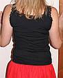 Стильная майка со стразами черная, фото 6