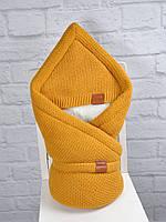 """Конверт-одеяло на выписку """"Familia"""", горчица"""