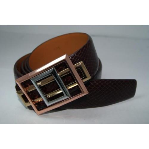Ремень мужской кожаный  (коричневый) 155777_039