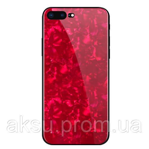 Чехол накладка xCase на iPhone Х Broken Glass Красный