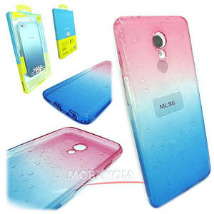Чехол накладка Silicone J-case Gradient rain for Samsung S9 pink/blue