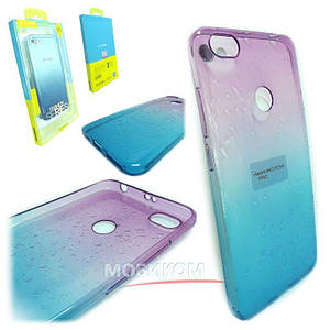 Чехол накладка Silicone J-case Gradient rain for Samsung S9 violet/blue