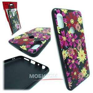Чехол накладка Silicone Case Flowers Samsung S9 (1)