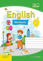 Робочий зошит з англійської мови. 1 клас (до підр. Г. Мітчелл) НУШ.