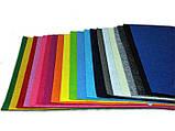 Фетр жорсткий 2 мм у наборі 20 кольорів, 33х25 см, Китай, фото 3