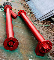 Шнековый транспортер (питатель, шнек) диаметром 133 мм., длиною 6 метров
