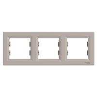 Рамка тримісна, горизонтальна, Schneider Electric Asfora бронза