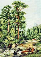 """Набор для вышивания крестиком (пейзаж) """"Горная речка"""""""