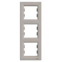 Рамка тримісна, вертикальна, Schneider Electric Asfora бронза