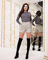 Шорты женские с высокой талией в большом размере, фото 1