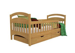 Ліжко в дитячу з натурального дерева (бук щит) Аріна+ Kempas