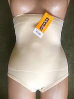 Высокие под грудь утягивающие трусы с силиконовой полоской