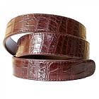Ремень мужской из кожи крокодила 1230a. 105 ALB-B Siam Belly Brown, фото 3