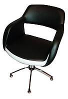 Парикмахерское кресло Ребекка чёрно-белое, фото 1