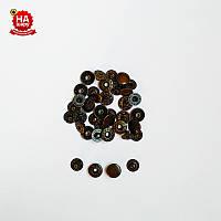 Кнопки для одежды Альфа 10мм. Кнопки для кошельков. VT-2, Антик (100шт)