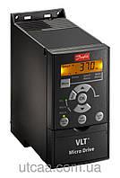 Преобразователь частоты Danfoss VLT Micro Drive 0,37 кВт, 3-х ф.  FC-051PK37T4E20H3XX