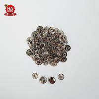 Кнопки для одежды Альфа 10мм. Кнопки для кошельков. VT-2, Никель (100шт)
