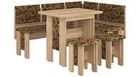 Кухонний куток з розкладним столом з ДСП/Тканина Аристократ Пехотін