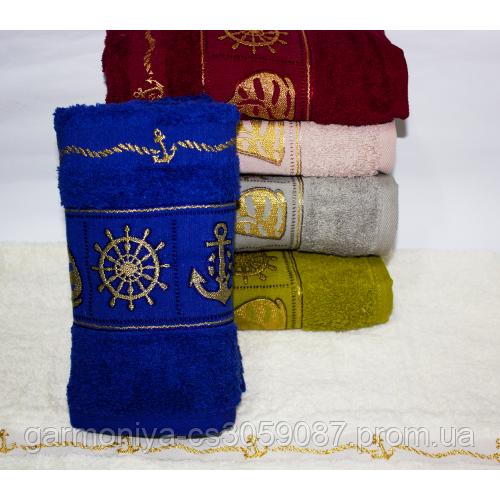 Банное турецкое полотенце Якорь - Штурвал
