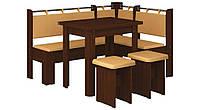 Кухонний куток з розкладним столом з ДСП/Екошкіра Гетьман Пехотін