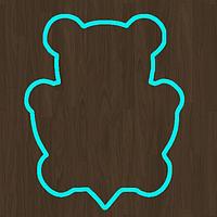 Вырубка кондитерская для пряника мастики марципана мишка с сердцем № 2