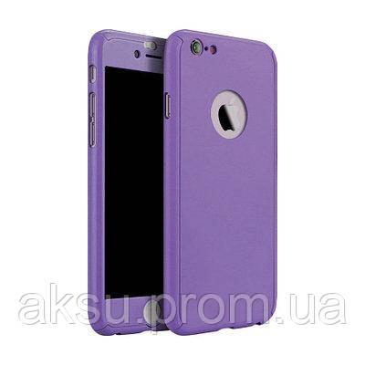 Чехол накладка xCase на iPhone Х 360° Mirror Case Фіолетовий