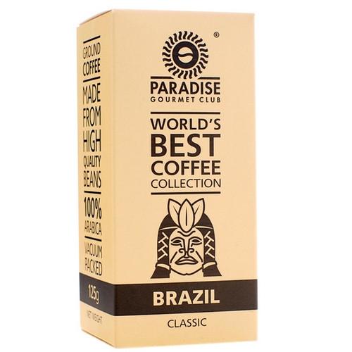 Кофе Paradise Бразилия Сантос молотый 125 г