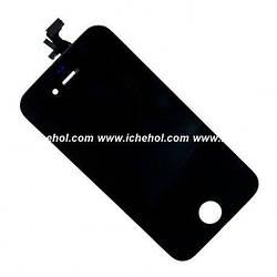 Оригинальный Дисплей iPhone 4 черный (LCD экран, тачскрин, стекло в сборе)