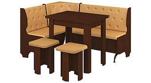 Кухонний куток з простим столом з ДСП/Екошкіра Адмірал Пехотін