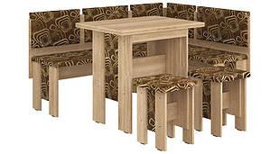 Кухонний куток з простим столом з ДСП/Тканина Аристократ Пехотін