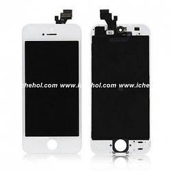 Оригинальный Дисплей iPhone 5 белый(LCD экран, тачскрин, стекло в сборе)